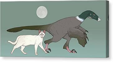 Balaur Bondoc Dinosaur Canvas Print by Nemo Ramjet