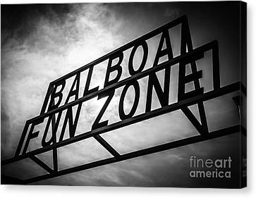 Amusements Canvas Print - Balboa Fun Zone Sign Picture Newport Beach by Paul Velgos