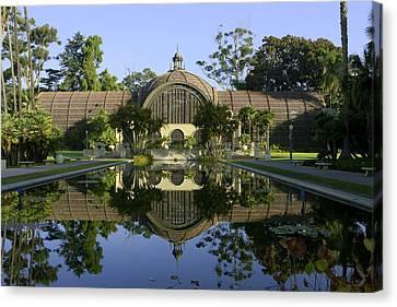 Balboa Park Botanical Building - San Diego California Canvas Print by Ram Vasudev