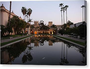 Canvas Print featuring the photograph Balboa Park Reflection Pool by Nathan Rupert
