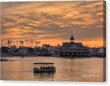 Survive Canvas Print - Balboa Pavilion by Eddie Yerkish