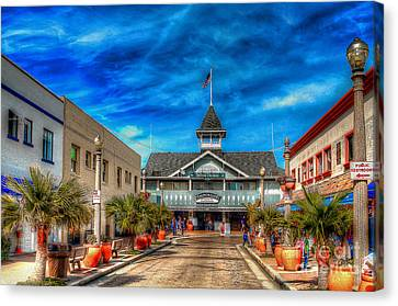 Canvas Print featuring the photograph Balboa Pavilion by Jim Carrell