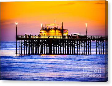 Balboa Pier At Sunset Picture Canvas Print by Paul Velgos