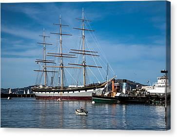 Rowing Past Balclutha And Steamship Eppleton Hall Canvas Print