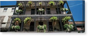 Balconies Of A Building, French Canvas Print by Panoramic Images