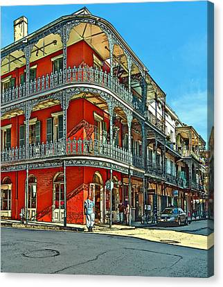 Balconies Painted Canvas Print