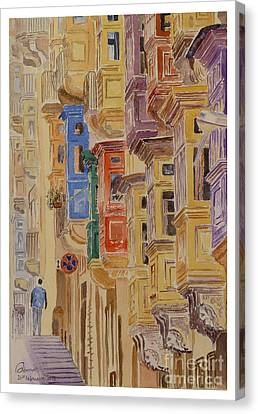 balconies Valletta Canvas Print