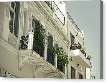 Balcony Canvas Print by Aiolos Greek Collections