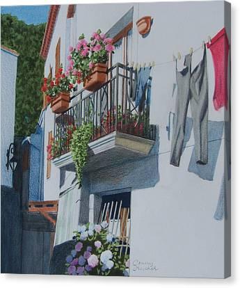 Balcony In Maratea Canvas Print