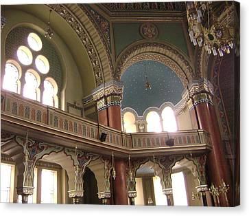 Balcony Of Sofia Synagogue Canvas Print