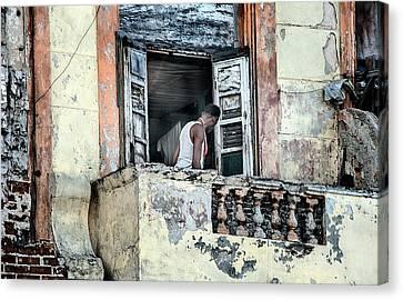 Balcony On The Malecon Canvas Print