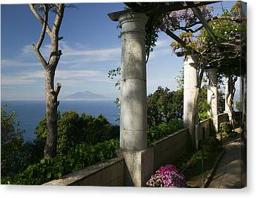 Balcony Overlooking The Sea, Villa San Canvas Print by Panoramic Images