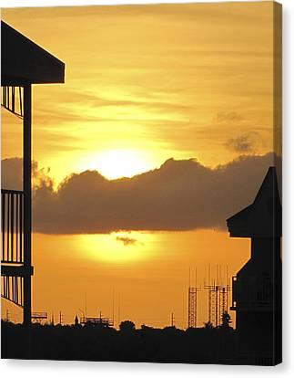 Key West Balcony Sunset Canvas Print by Bob Slitzan