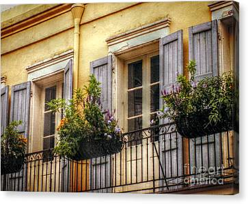 French Quarter Balcony Canvas Print