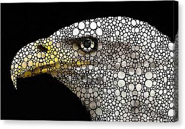 Bald Eagle Art - Eagle Eye - Stone Rock'd Art Canvas Print by Sharon Cummings