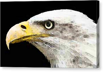 Bald Eagle By Sharon Cummings Canvas Print by William Patrick