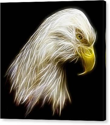 Bald Eagle Fractal Canvas Print by Adam Romanowicz