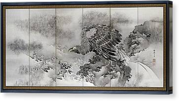 Bald Eagle On A Rock On The Coast, Kishi Ryo Canvas Print by Litz Collection
