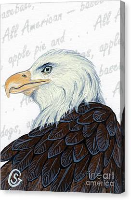 Bald Eagle -- Proud To Be An American Canvas Print by Sherry Goeben