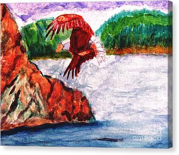 Bald Eagle Canvas Print by Stanley Morganstein