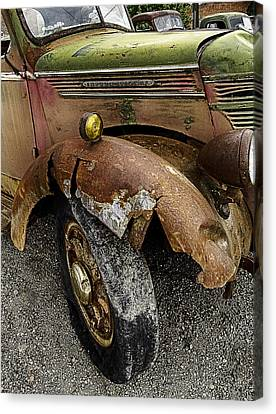 Bald Tire Canvas Print by Gary Neiss