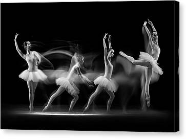 Ballerinas Canvas Print - Balerina Art Wave by Antonyus Bunjamin (abe)