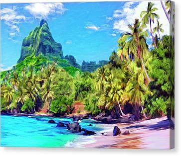 Bali Hai Canvas Print by Dominic Piperata