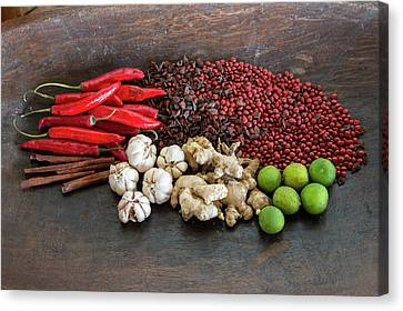 Seed Beads Canvas Print - Bali, Indonesia Balinese Spices by Charles O. Cecil