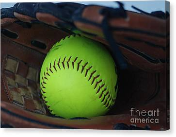 Ball And Glove Canvas Print by Mark McReynolds
