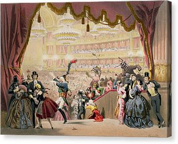 Ball At The Opera Canvas Print by Eugene Charles Francois Guerard