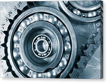 Ball-bearings Titanium And Steel Canvas Print by Christian Lagereek