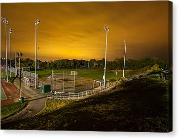 Ball Field At Night Canvas Print