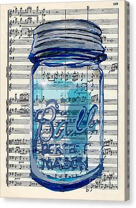 Ball Jar Classical  #129 Canvas Print by Ecinja Art Works