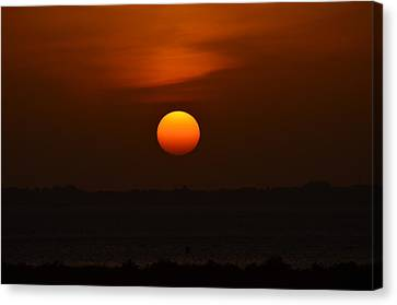 Canvas Print featuring the photograph Ball Of Fire by Debra Martz