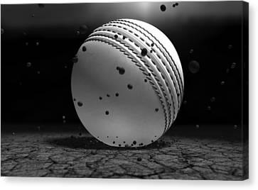 Ball Striking Ground Canvas Print by Allan Swart