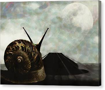 Canvas Print featuring the digital art Ballad by Galen Valle