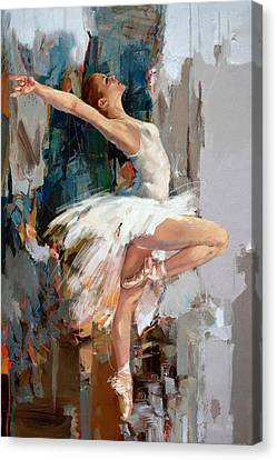 Ballerina 22 Canvas Print by Mahnoor Shah