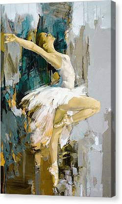 Ballerina 23 Canvas Print by Mahnoor Shah