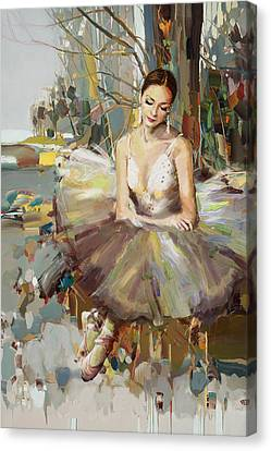 Ballerina 32 Canvas Print by Mahnoor Shah