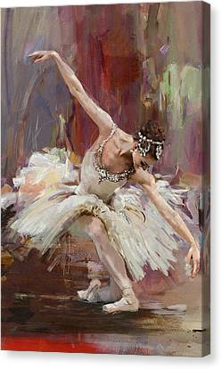 Ballerina 36 Canvas Print by Mahnoor Shah