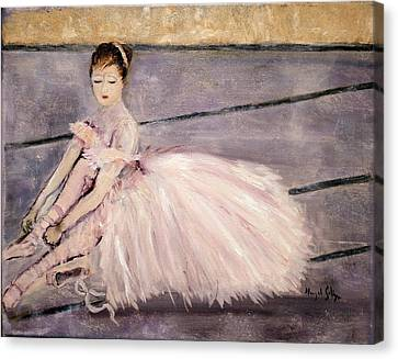 Canvas Print featuring the painting Ballerina by Aleezah Selinger