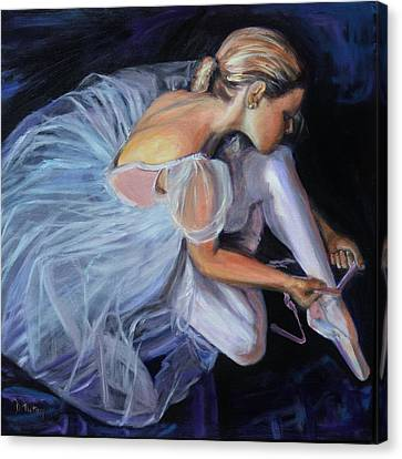 Ballet Dancers Canvas Print - Ballerina by Donna Tuten