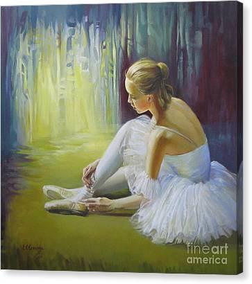 Ballerina Canvas Print by Elena Oleniuc