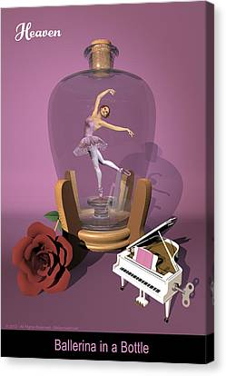 Ballerina In A Bottle - Heaven Canvas Print by Andre Price