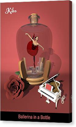Ballerina In A Bottle - Kiko Canvas Print by Andre Price