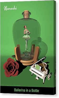 Ballerina In A Bottle - Nanashi Canvas Print by Andre Price
