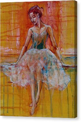 Ballerina In Repose Canvas Print by Jani Freimann