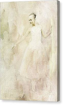 Canvas Print featuring the painting Ballerina by Linda Blair