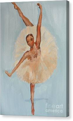 Canvas Print featuring the painting Ballerina by Marisela Mungia