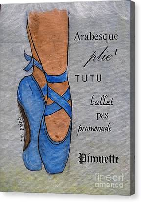 Ballet Dancers Canvas Print - Ballerina On Point by Ella Kaye Dickey